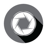 Flat Camera icon with shadow. Vector illustration Stock Photography
