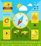 Flat Camping Infographic Template. Royalty Free Stock Image