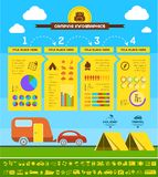 Flat Camping Infographic Template. Stock Photos