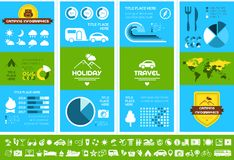 Flat Camping Infographic Template. Royalty Free Stock Photo