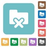 Flat cancel folder icons