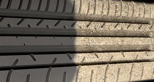Tyre Tread Morphing To Ground Royalty Free Stock Image
