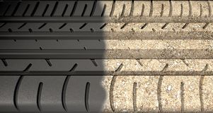 Tyre Tread Morphing To Ground Stock Photography