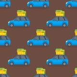 Flat car vehicle type design sedan seamless pattern vector generic classic business auto illustration. Stock Images
