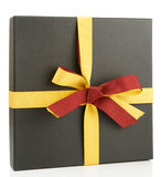 Flat cardboard gift box Royalty Free Stock Photography