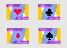 Flat cards jack Stock Photos