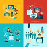 Flat Career Set stock illustration