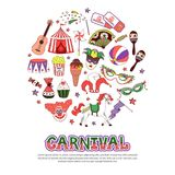 Flat Carnival Circus Concept vector illustration