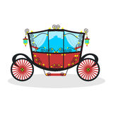 Flat carriage in  format. Super best flat carriagein  format eps10 Stock Photo