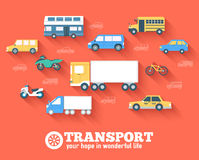 Flat cars concept set icon backgrounds. Illustration design. Template for web and mobile Stock Photo
