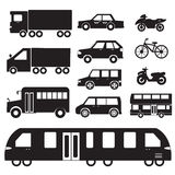 Flat cars concept set icon pictogram illustration Royalty Free Stock Photos