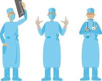 Flat Cartoon Surgeon Royalty Free Stock Photography