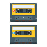 Flat Cassette Tape Icons. Vector Illustration Stock Photography