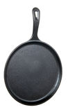 Flat Cast Iron Frying Pan Royalty Free Stock Photo