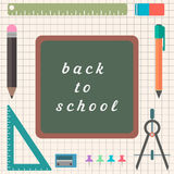 Flat chancery with blackboard in the middle. Vector illustration Royalty Free Stock Image