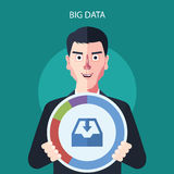 Flat character of big data concept illustrations Royalty Free Stock Photos