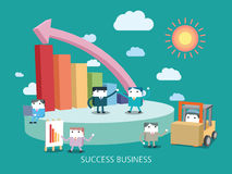 Flat character business concept illustration Royalty Free Stock Image