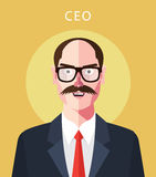 Flat character of ceo concept illustrations Stock Images