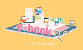 Flat character electronic book concept illustration Stock Photo