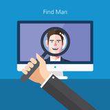Flat character of find man concept illustrations.  Stock Images