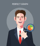 Flat character of green energy concept illustrations Royalty Free Stock Photos