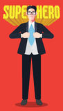 Flat character of hero businessman concept illustrations Royalty Free Stock Images