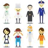 flat character job stock illustration