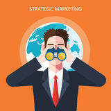 Flat character of strategic marketing concept illustrations Stock Photos