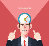 Flat character of time manager concept illustrations Stock Photo