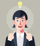 Flat characters of businesswoman concept illustrations Stock Images