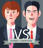 Flat characters of competition people concept illustrations Stock Photography