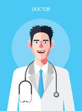 Flat characters of doctor man concept illustrations Stock Photo