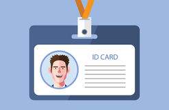 Flat characters of id card concept illustrations Royalty Free Stock Photo