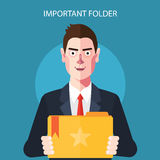 Flat characters of important folder concept illustrations Royalty Free Stock Photos