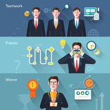 Flat characters of web development concept illustrations Stock Photo