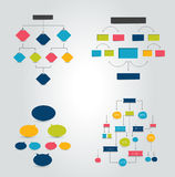 Flat chart, graph with shadows effect. Simply color editable. Royalty Free Stock Image