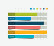 Flat chart, graph. Simply color editable. Royalty Free Stock Photography