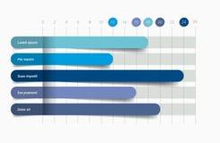 Flat chart, graph. Simply color editable infographics Stock Photography