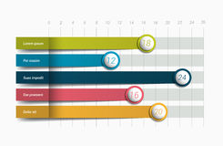 Flat chart, graph. Simply color editable. Stock Photo