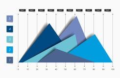 Flat chart, graph. Simply color editable. Stock Image
