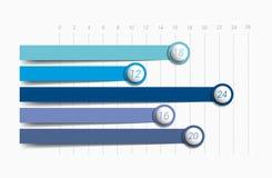 Flat chart, graph. Simply color editable. Stock Photos