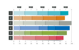Flat chart, graph. Simply color editable. vector illustration