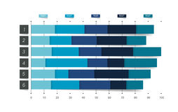 Flat chart, graph. Simply color editable. Infographics elements. Stock Image
