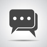Flat chat icon Royalty Free Stock Photography