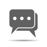 Flat chat icon Stock Photography