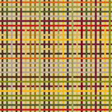Flat checkered pattern. Seamless. Autumn colors. Endless background. Colorful horizontal and vertical bars. Simple texture Stock Illustration