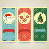Flat Christmas Banner Stock Photography