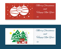 Flat christmas banners Royalty Free Stock Photos