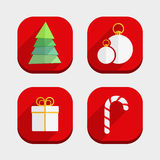 Flat Christmas Icons Royalty Free Stock Photos