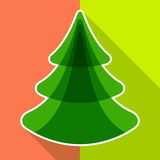 Flat christmas tree Stock Photography
